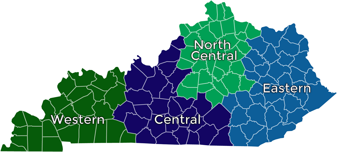 KWWOA - Kentucky County Chapter Map